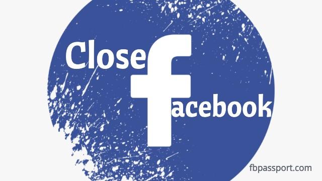 close facebook account immediately